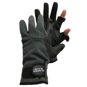 Glacier Glove Hybrid Windproof Fleece - Light Gray/Black