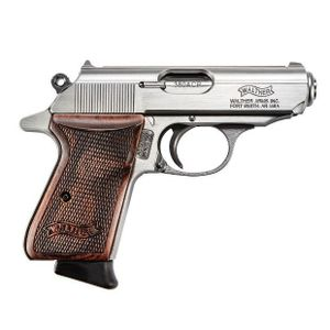 "Walther 4796004WG Limited Edition PPK/S Semi-Auto Pistol 380 ACP, 3.3"", Walnut Grips, Stainless Finish, 7 Rd"