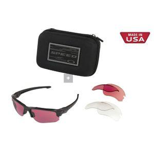 Oakley Men's Speed Jacket Oval Sunglasses, Black, 67.0 mm OO9228-05