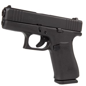 "GLOCK 43X 9MM 3.41"" BLACK 10+1WHITE DOT SIGHTS"