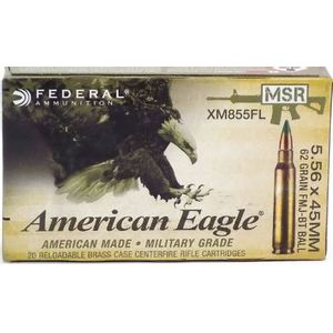 Federal American Eagle Penetrator 5.56mm 62gr FMJ 20 Round Box XM855FL