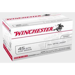 Winchester 45 Auto 230GR FMJ 100RDS - USA45AVP