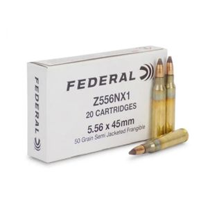 Federal 5.56x45 - 50Gr - Semi-Jacketed-Frangible - 20rd boxes