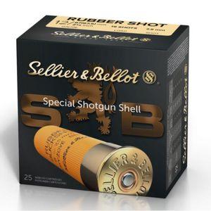 Sellier & Bellot Ammunition 12GA Rubber Buck Shot - 25rds