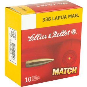 S&B Match Ammunition .338 Lapua Magnum Boat Tail Hollow Point 300 Grain 10 Round Box