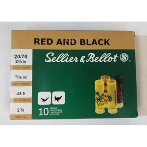 Sellier & Bellot Red and Black 20GA - 2 3/4 - #5