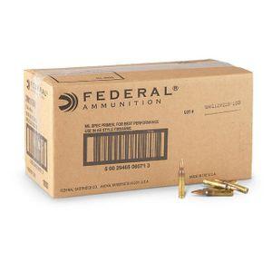 Federal 5.56x45mm NATO 55 gr FMJ 1000 Round Case