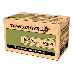 Winchester M855 Green Tip 5.56 FMJ 62gr 200rd Range Pack