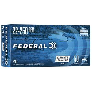 Federal 22-250 REM JHP 50gr 20rds