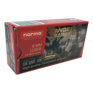 Norma 9mm Luger FMJ 115gr 50rds