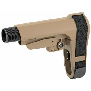 SB Tactical Five Position Adjustable Brace Flat Dark Earth With Six Position Mil-Spec Carbine Ext