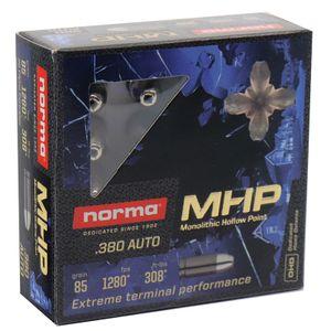 Norma MHP .380 Auto 85 Grain - Monolith Defense