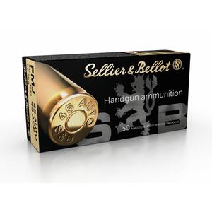 Sellier & Bellot SB45A 45 ACP FMJ 230 grains 14.9 grams Handgun Ammunition 50 rd box