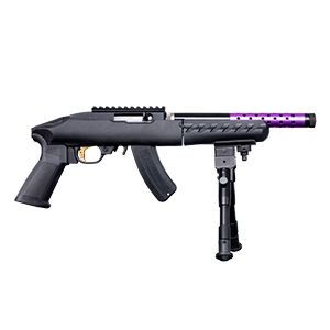 Ruger 22 Charger Takedown 22LR Purple/Gold w/ Bipod