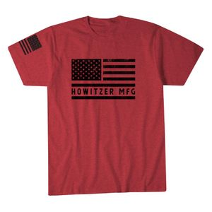 Howitzer Bold Flag Tee Red Heather