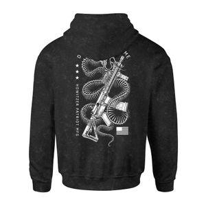 Howitzer Coiled Snake Hood Vintage Black