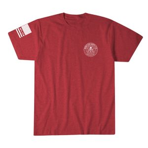 Howitzer One Flag Tee Red Heather