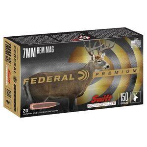 Federal - Premium, 7mm Rem Mag, 150 grain, Swift Scirocco, 20/b