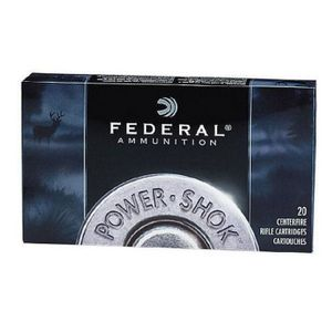 Federal Ammo .30-06 Springfield Federal Power-Shok 220 Grain Hot-Cor SP Bullet 2410 fps 20 Rounds