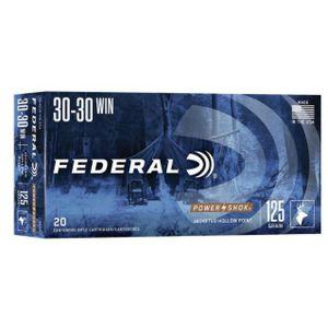 Federal Power-Shok .30-30 Winchester Ammunition, 20 Rounds, Hollow Point, 125 Grains, 2,570 FPS