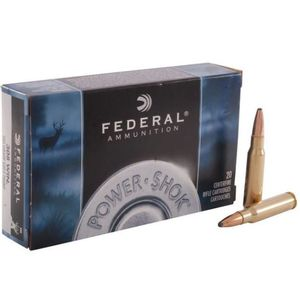 Federal Power-Shok .308 Winchester Ammunition 20 Rounds 180 Grain Jacketed Soft Point 2570fps