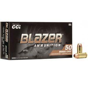 CCI Blazer Brass 10mm Auto 180 Grain FMJ Brass 1200 FPS 50 Rounds