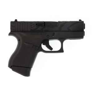 Glock G43 9mm Tiger Engraved Pistol 6Rd