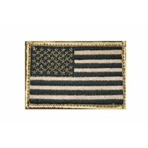 Blackhawk Patch, American Flag Tan/Black (Approx 2 x 3) USA
