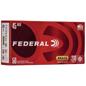 Federal Champion Target Ammunition 45 ACP 230 Grain Full Metal Jacket Box of 50
