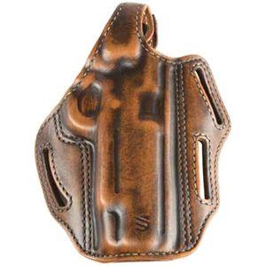"""BlackHawk Premium 3 Slot Pancake Holster 1911 5"""" Antiqued Brown"""