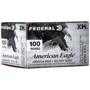 Federal American Eagle .223 Rem 55 gr Full Metal Jacket Boat Tail 100 Round Box