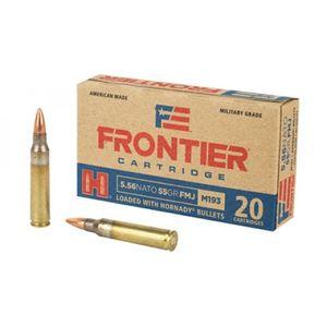 Hornady Frontier 5.56x45mm FMJ, 55 Grain, 20 Rounds FR200