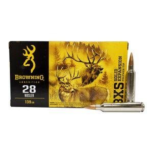 Browning 28 Nosler 139 GR BXS Solid Expansion Polymer Tip
