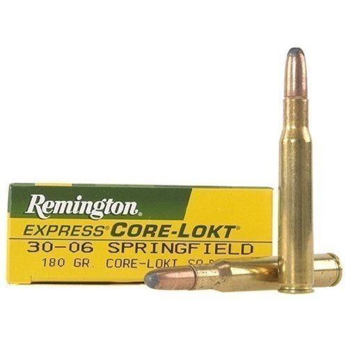 Remington Core-Lokt Ammunition 30-06 Springfield 180 Grain Core-Lokt Soft Point Box of 20