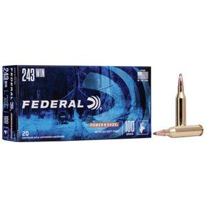 Federal Power-Shok Ammunition 243 Winchester 100 Grain Soft Point