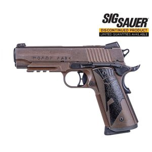 """Sig Sauer Spartan 1911 45 ACP Carry Pistol - 4.2"""" - 8rd - Distressed Coyote Brown"""